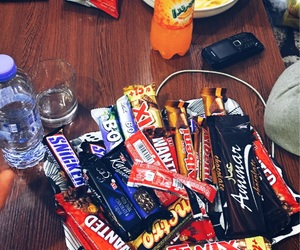 chips, chocolate, and food image