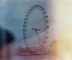 london, vintage, and london eye image