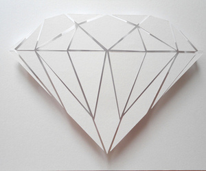 diamond, white, and art image