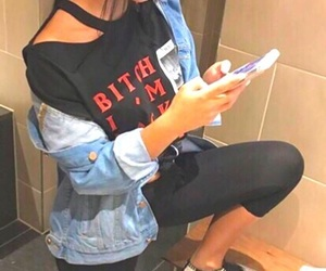 denim, fashion, and relax image