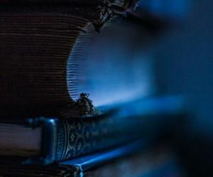 blue, books, and blue hue image