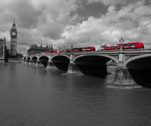 black, london, and red image