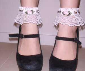 shoes, lace, and pink image