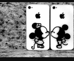 love, iphone, and mickey image