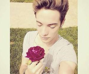 flower, greek, and model boy image