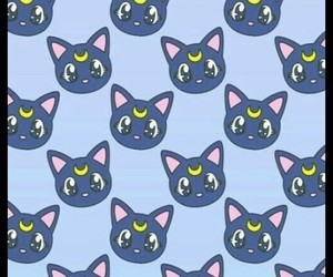 wallpaper, cat, and sailor moon image