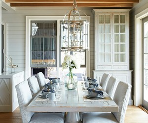 dining room, home decor, and slipcovers image
