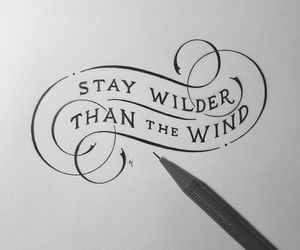 wind, calligraphy, and quotes image