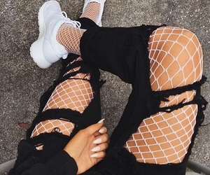 black, ⓝⓘⓚⓔⓢ, and fishnet image