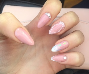 cool, nails, and pink image
