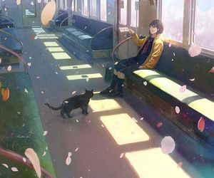 anime, art, and cat image