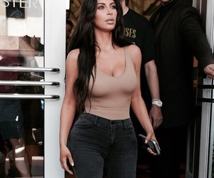 celebrities, fashion, and kim kardashian image