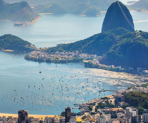 city, brazil, and beach image