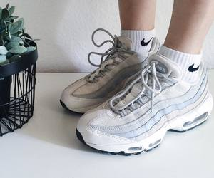 air max, girl, and sneaker image
