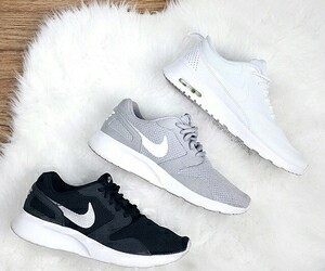 black, grey, and nike image