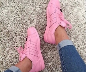 adidas, chaussure, and rose image