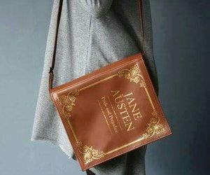 bag, book, and vintage image