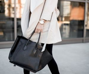 black and white, classy, and coat image