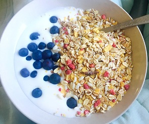 berries, breakfast, and fit image
