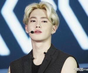 blonde, suho, and exo image