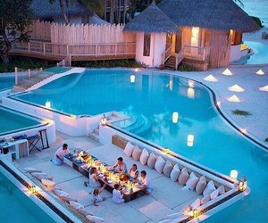 pool, summer, and house image