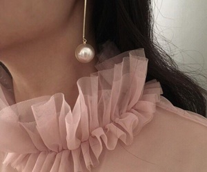 pink, aesthetic, and earrings image