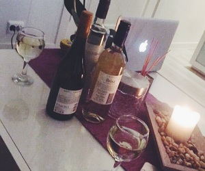 cozy, drinks, and wine image