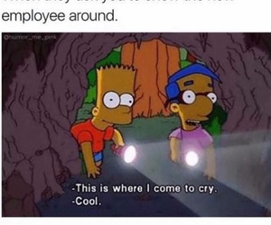 cry, simpsons, and bart image