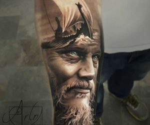 serie tv, tatoo, and vikings image