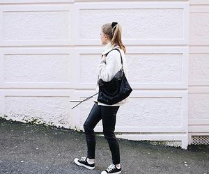 blonde hair, converse, and fashion image