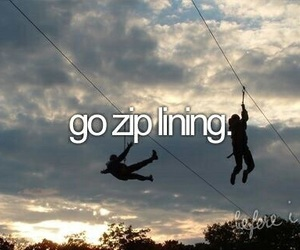 zip lining, before i die, and bucket list image