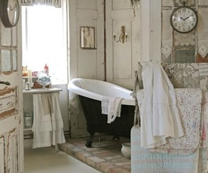 vintage, bathroom, and decor image