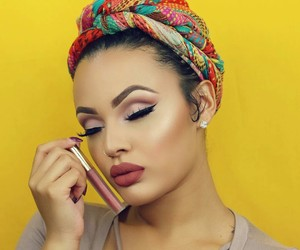 headwrap, lips, and makeup image