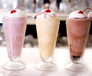 cherry, milk, and vanillia image