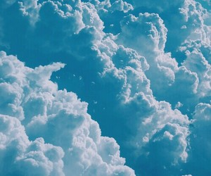 blue, nubes, and sky image