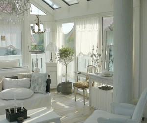 french country, white living room, and my style shabby chic image