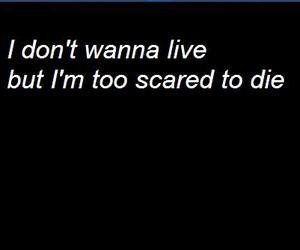black and white, die, and Lyrics image