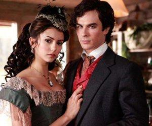 the vampire diaries, damon salvatore, and Nina Dobrev image