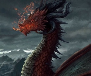 dragon, fantasy, and fire image