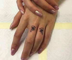 ink, Tattoos, and finger tattoos image