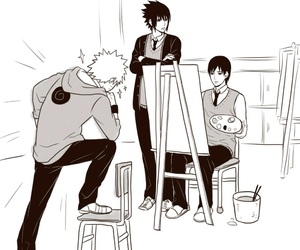 naruto, sasuke, and sai image