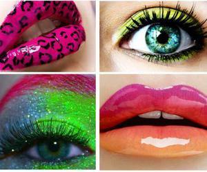 makeup and neon image