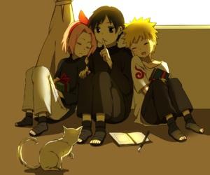 naruto, sai, and sakura image