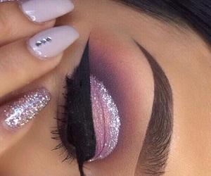 beauty, nails, and eye makeup image