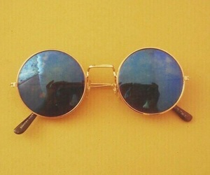 yellow, sunglasses, and aesthetic image