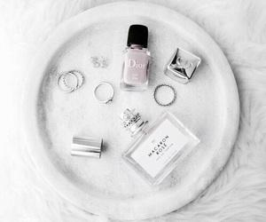 white, dior, and nail polish image