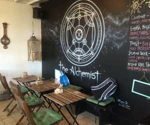 cafe, florida, and the alchemist image
