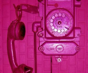 phone, wall phone, and pink image