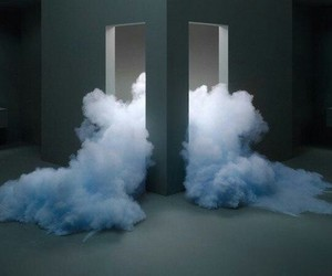 blue, grunge, and smoke image