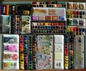 art, art supplies, and paint image